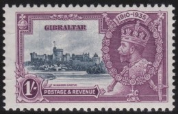 Gibraltar    .       SG     .    117  Vertical  Lines       .        *    .     Ongebruikt   .    /    .   Mint-hinged - Gibraltar