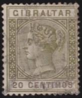 Gibraltar   .       SG     .     25     .        O    .     Gebruikt   .    /    .    Cancelled - Gibraltar