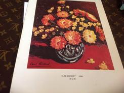 Dessin Paul Ricard Les Soucis Fleurs 🌺  Sur Carton - Steendruk