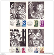 ESTMX1374STV-LFT1374TAPOT.Spain,Espagne,TARJETAS MAXIMAS.ARTE.Pintura,FORJADORES DE AMERICA.1961 (Ed 1374/1). - Arte