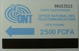 AFRICA - IVORY COAST - Autelca - D2 - IVC-2 - 2500 Units - Blue Logo - Ivory Coast
