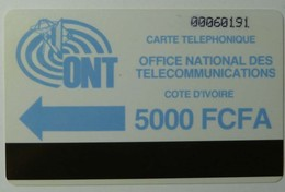 AFRICA - IVORY COAST - Autelca - D3 - IVC-3 - 5000 Units - Blue Logo - Ivory Coast