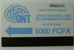 AFRICA - IVORY COAST - Autelca - D3 - IVC-3 - 5000 Units - Blue Logo