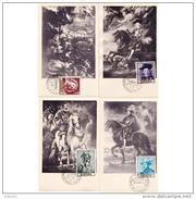 ESTMX1434STV-LFT1434TAPRU.Spain,Espagne,TARJETAS MAXIMAS.ARTE.Pintura,PINTOR RUBENS.1962 (Ed 1434/7). - Rubens