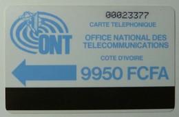AFRICA - IVORY COAST - Autelca - 1st Issue - D4 - IVC-4 - 9950 Units - Blue Logo - Ivory Coast