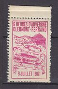 FRANCE. TIMBRE. VIGNETTE. VIGNETTES........1961 AUVERGNE COURSE VOITURE AUTOMOBILE CLERMONT FERRAND - Sports