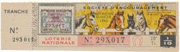 LOTERIE NATIONALE - Amélioration Races De Chevaux 1945 - Billetes De Lotería