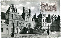 VR 349 Carte Fontainebleau 20.1.1951 Cachet Témoin Au Verso - France
