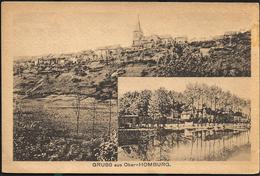 Hombourg Haut  1918 Ober-Homburg Double Vues - Altri Comuni