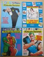 Lot 4 Revues  Hors-série De L'ECHO DES SAVANES - Nos 1 - 3 - 4 - 5 . Spécial B.D. - Humour - - Humour