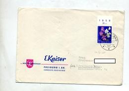 Lettre Expres Cachet Rigi Kaltbad Sur Pro Patria Fleur 1959 - Marcophilie