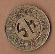 AC -  SANTA MONICA CALIFORNIA MUNICIPAL BUS LINES #1 GOOD FOR ONE ZONE FARE  TOKEN - JETON - Monetary/Of Necessity