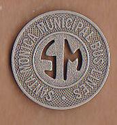 AC -  SANTA MONICA CALIFORNIA MUNICIPAL BUS LINES #2 GOOD FOR ONE ZONE FARE  TOKEN - JETON - Monetary/Of Necessity