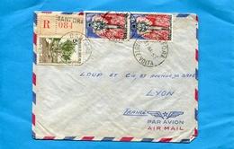 Marcophilie-Haute Volta  REC >Françe-cad BANFORA  1963-3-stamp N° 85masque éléphant+97chasse Et Tourisme - Upper Volta (1958-1984)