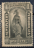Stamp Us  Scott? NEWSPAPER STAMPS 1c  Lot#24 - 1847-99 General Issues