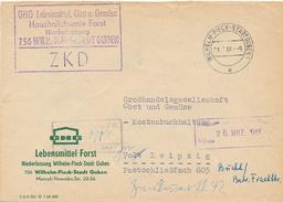 WILHELM-PIECK-STADT GUBEN - 1966 , ZKD  Nach Leipzig