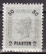 LEVANTE 1900 ANK 35  2 PIASTER A. 50 HELLER   MH* VF  Kz. 13-12-1/2 , Faserpapier - Unused Stamps