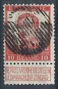 10c Rge Obl Barres Rurale - 1912 Pellens