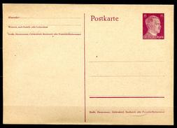 "German Empires,DR 1941 Kopfbild A.Hitler GS Mi.Nr.P300 ""1 Ganzsache- Mint,ungebraucht - Duitsland"