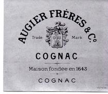 Etiket étiquette Augier Frères & Co Cognac - Autres