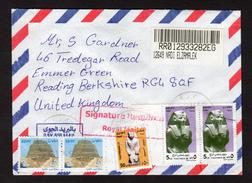 Egypt 2012 Airmail Cover To UK Nadi Elzamalek With Cairo CDS On Back - Airmail