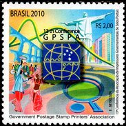 Brazil - 2010 - 13th Conference Of Postage Stamps Printers Association GPSPA - Mint Stamp - Unused Stamps