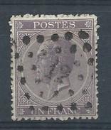 N°21, 1f Violet Lpts 12 ANVERS Centrage Et Oblitération Superbe - 1865-1866 Profiel Links