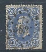 N°31, 20c Bleu  Lpts 363 Tournai - 1869-1883 Leopold II