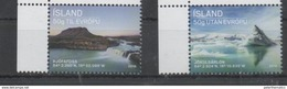 ICELAND , 2016, MNH, WATERFALLS, LAGOONS, 2v - Other