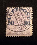 SWEDEN 1920 AIR POST STAMP 50 Used Scott C3