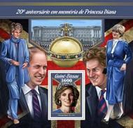 Guinee Bissau - Postfris / MNH - Sheet Prinses Diana 2017 - Guinea-Bissau