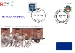 Latvia Lettland Lettonie 2006 Mass Deportations In 1941 - 65 Years Memorial Day (addressed Cover) - Lettonie