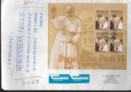 TANZANIE  Lettre  Pape Jean Paul II  Clinton - Papes