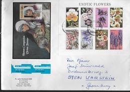 TANZANIE  Lettre  Mere Theresa Fleurs Orchidées