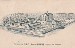 Carte Commerciale 1932 Adrien BURIOT / Imprimerie / 70 Fougerolles Haute-Saône - Cartes
