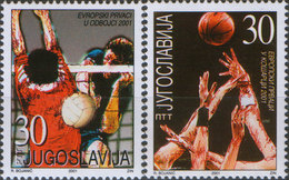 Yugoslavia 2001 European Champions In Volleyball And Basketball, MNH (**) Michel 3044-3045 - Nuovi