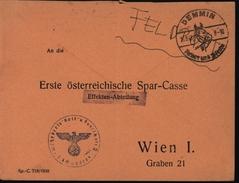 Guerre 39/45 Enveloppe Cachet Unité Allemande Aigle Croix Gammée CAD Illustré Tête De Cheval Demmin 16.9.43 Pour Vienne - Alemania