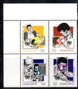 R878 - ZIMBABWE 1987 , Serie 130/133 Gomma Integra  ***  MNH - Zimbabwe (1980-...)