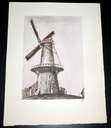 17 Pierre VALADE Moulin GHYSELEN CAESTRE (59) - Estampes & Gravures