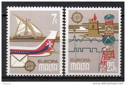 Malte - Malta - 1979 - Yvert N° 583 & 584 **  -  Europa - Malte