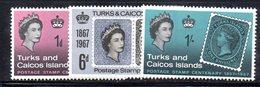 R860 - TURKS CAICOS 1967 , Serie 213/215 Gomma Integra  ***  MNH - Turks E Caicos