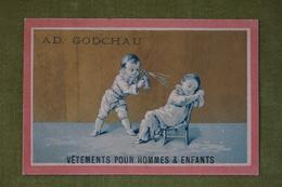 Ad Godchau - Série Pierrot - Endormi, Réveil - Fond Or - Imp. Testu Et Massin Vers 1880 - Altri