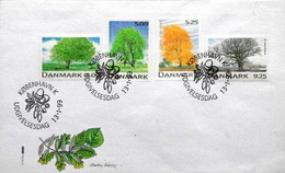 Denmark 1999 Domestic Trees Tree Botany Plant Forest - MiNr.1199-1202  FDC   ( Lot Ks ) - FDC