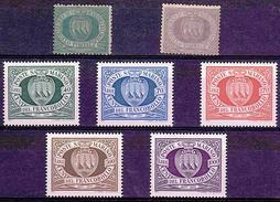 ST MAR 12 - SAINT MARIN LOT DE 7 TP Neufs**/* - Collections, Lots & Séries