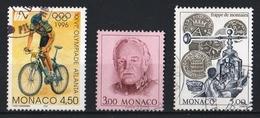 Monaco 1996 : Timbres Yvert & Tellier N° 2054 - 2055 Et 2060. - Gebruikt
