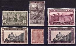 ST MAR 15 - SAINT MARIN LOT DE 6 TP Entre N°32 Et 187 Neufs**/* - Collections, Lots & Séries