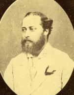 Prince Of Wales Edward VII Duc De Galles Ancienne Photo Carte Cabinet 1865