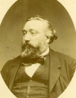 France Léon Gambetta Homme D'Etat Politique Ancienne Photo Carte Cabinet Carjat 1880