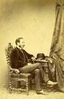 France Duc De Montmorency Laval Politique Ancienne Photo Carte Cabinet Schindler 1865