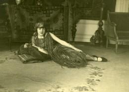 France Jeune Femme Mode Art Deco Fashion Ancienne Photo 1920